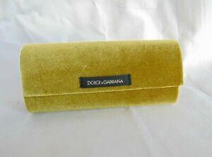 Olive Green Velvet Dolce & Gabbana Hard Glasses Case