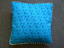 NEW Temerity Jones 50s style Tattoo Swallows Blue Cotton Cushion Cover & Inner