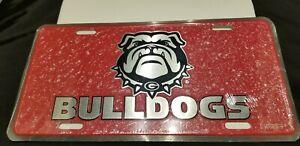 Red University Of Georgia License Plate Car  Bulldogs Football Nice looking Tag