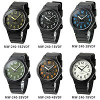 Casio New Men's Analogue Resin Strap Water Resistant Collection Series MW 240
