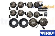 73mm Smoked LED Light Kit & 95mm Fog & Reverse for Land Rover Defender WIPAC