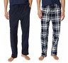 2-Pack NAUTICA Men's Blue Fleece Lounge Pajama Pants PICK SIZE New w/ Tags