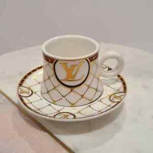 NEW 12pcs Espresso Coffee Set 6 cups /6 Saucer  LV Design