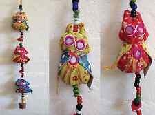 3 Gufi-Da Appendere Muro Mobile Gong Indiano Etnico Boho Hippie Festival