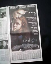 Best TWILIGHT Vampires Film Movie Opening Day AD & Review 2008 L.A. CA Newspaper