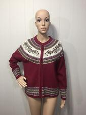 """Croft & Barrow"" Ladies Winter Holiday Zip Front Cardigan Sweater Petite Medium"