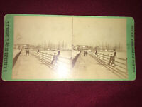East Battery Charleston South Carolina G.N. Barnard Stereoview Photo Antique Vtg
