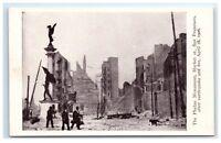 Postcard Phelan Monument Market St, San Francisco CA earthquake fire 1906 G11