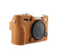 Estuche carcasa para Fujifilm x-e1 x-e2 imitación cuero bolso Fuji marrón cc1143c