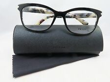 Prada VPR 10R ROK-1O1 Black on White Havana New Authentic Eyeglasses 55mm w/Case