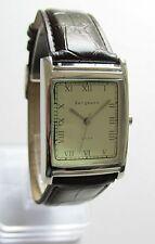 Bergmann 1924 * Rechteckig * Herren Quarz Uhr * Lederband Braun !
