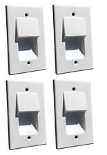 4x Single Cable Wall Plate Low Voltage Recessed Gang Hidden Cables /White MCS01