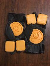 Sector 9 Surgeon Slide Gloves, Long boarding, black/yellow. Small/Medium.