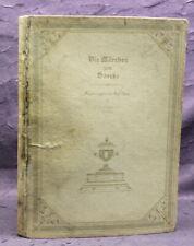Schott Die Märchen von Goethe 1920 Mit Original Radierungen Erzählungen js