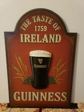 Guinness Dublin Bottled Draught 3D Wall Art Sign Man Cave