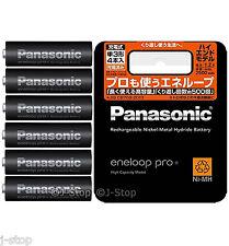 New! 6 Panasonic Eneloop Pro Rechargeable Batteries AA High End Model 2500 mAh