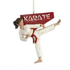 Kurt Adler Karate Girl Christmas Ornament