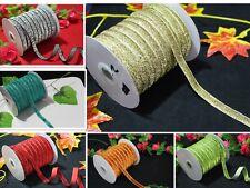 5/10/50yd Velvet Ribbon Bling Trim Cord Craft Making Headband Wedding Decoration