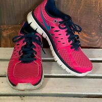 Nike Size 6 Flex Running Shoes Womens Pink Blue