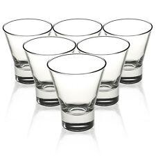 6x Bormioli Rocco Ypsilon 255ml Water Juice Glass Short Tumbler Drinking Glasses