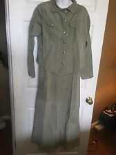 TSUNAMI Women's Long Skirt Jacket Suit - Hemp/Chanvre/Lyocell Blend - Sz. S/M
