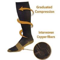 3-Pairs] Infused Compression Socks 20-30mmHg Graduated Mens Womens Hose