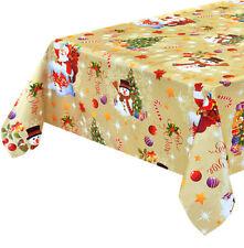 Chiffon Noël Anti Tache par Mètre h140 CM Plastifié Couverture de Table Noël