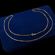 Antique Vintage Deco Retro Style 14k Yellow Gold HERCO Snake Link Chain Necklace