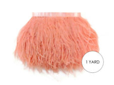 1 Yard - Peach Pink Ostrich Fringe Trim Wholesale Feather Prom Dress Wedding