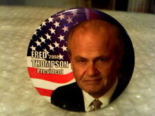 "FRED THOMPSON PRESIDENT 2008 CAMPAIGN ORIGINAL VINTAGE 2 2/8"" PHOTO PINBACK"