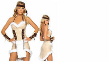 NEW WOMENS SEXY INDIAN WARRIOR NATIVE AMERICAN  HEN FANCY DRESS PARTY OUTFIT