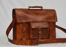 Laether Vintage All Laptop Messenger Shoulder Crossbody Briefcase Bag Satchel