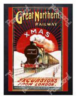 Historic Great Northern Railway, 1905. Advertising Postcard