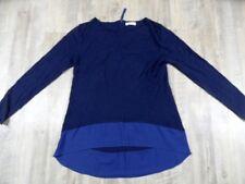 PROMOD leichter Pullover mit Blusenabschluss blau Gr. M? TOP ZC1217