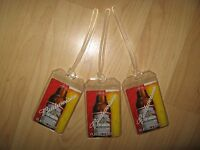 Budweiser Beer Luggage Tags - Long Neck Bottle Playing Card Name Tag Set (3)