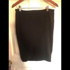 H&M Basic knit stretch black pencil skirt M