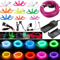 1-5M LED Flexible EL Wire Neon Glow String Strip Rope Light Dance Party Decor