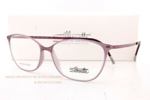 New Silhouette Eyeglass Frames URBAN LITE FULLRIM 1590 4040 Mauve / Plum Women