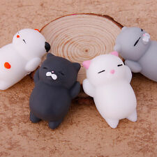 4PCS Soft Cat Squishy Healing Squeeze Kid Toy Gift Stress Reliever Decor Hot!