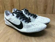 free shipping f73ba 9b2f8 Nike Zoom Victory 3 Men s Size 10 Track Shoes White Racing Spikes 835997-102