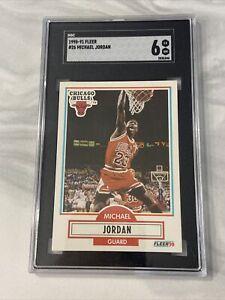 Michael Jordan 1990-91 Fleer #26 SGC 6 Chicago Bulls HOF
