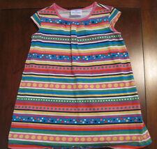 Hanna Andersson Blue Pink Stripe Polka Dot Cotton Dress Tunic Top Sz 110 5 EUC
