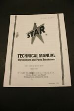 Star Machine 1265 Disc N Drum Brake Shop Brake Lathe Instructions Amp Parts Guide
