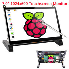 New 7 inch 1024x600 HDMI LCD Touch Screen Monitor Display For Raspberry Pi 3B+ 4