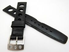 "KIMTRON,60's F-3553 ""Black Rally Racing 17mm,MENS WATCH BAND,B19-06. L@@K!"
