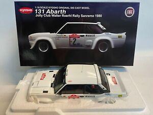 Kyosho Fiat 131 Abarth JOLLY CLUB #2 Roerhl Rally Sanremo 1980 1/18 08375B