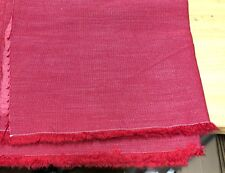 LAURA ASHLEY RED HEAVY LENEN CURTAIN UPHOLSTERY FABRIC 1.1 METRES!!