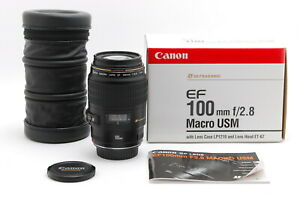 【TOP MINT BOXED】Canon EF Macro USM 100mm f/2.8 EF Mount Lens From JAPAN