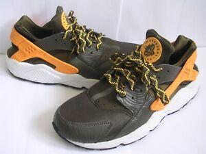 Nike Air Huarache Dark Loden Men's Khaki Trainers UK 10 - EU 45 - US 11