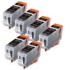 6P BLACK Quality Ink Cartridge for Canon PGI-5BK MP800 MP810 MP830 MX700 MX850